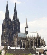 Cologne Cathedral 1248 1880 A Wonderful Example Of German Gothic Art Notice The Array Flying Buttresses Topped With Spires