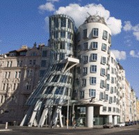 Nationale Nederlanden Building, Prague (1992-97) Designed by. Frank Gehry.