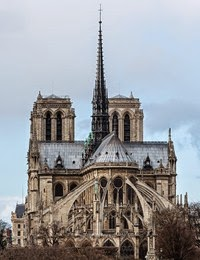 Notre Dame Cathedral Seen From The East Notice Flying Buttresses Circling And Supporting Apse