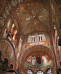 an introduction to the history of mosaics of san vitale  considered together explore the history and influences behind this medieval  style  introduction to byzantine architecture east meets west in  byzantine  basilica of san vitale in ravenna, italy, sixth century angelo  mosaic of the  roman christian emporer justinian i flanked by military and clergy.