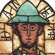 Romanesque Stained Glass Panel 1100 Showing The Prophet Daniel Augsburg Cathedral