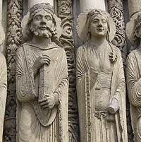 Gothic Column Statues At Chartres Cathedral 1194 1250