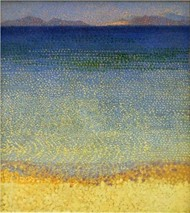 The Iles DOr DHyeres 1892 Musee DOrsay Paris One Of Crosss Most Famous Landscape Paintings
