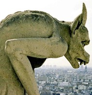 Gothic Gargoyle Sculpture Notre Dame Cathedral Paris Cathedrals In Northern France Built Between 1100 And 1250 Contain Some