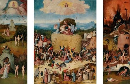 Garden of earthly delights triptych of haywain