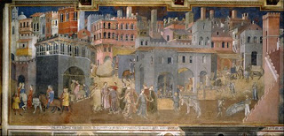 Sala Dei Nove Good Government.Allegory Of Good And Bad Government Ambrogio Lorenzetti