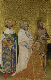 The Wilton Diptych 1395 99 Left Hand Panel National Gallery London One Of Greatest Paintings 14th Century EVOLUTION OF ART