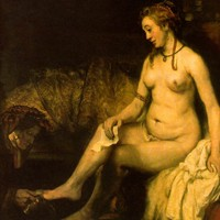 Bathsheba Holding King David's Letter by Rembrandt