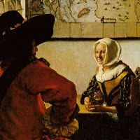 Soldier and a Laughing Girl by Jan Vermeer
