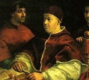 Pope Leo X with Cardinals by Raphael
