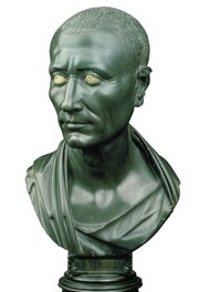 Portrait of julius caesar the green caesar c 25 20 bce archetypal