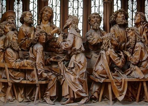 German religious wood carvings